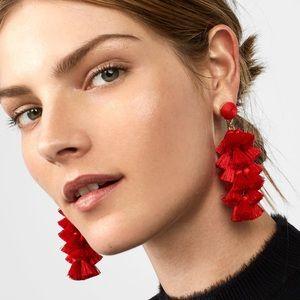 BaubleBar Contessa Tassel Earrings Red